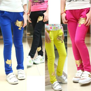 Kids Childreds Clothing Girls Fashionable Casual Foxes Pants Trousers AGES2 7Y
