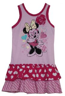 "Disney Minnie Mouse Tank Top Dress Set Toddler Girl Size 2T ""Hearts"""