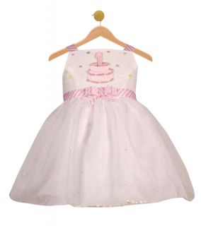 RARE Editions Baby Girl Pink Birthday Cake Theme Dress Size 12 Month