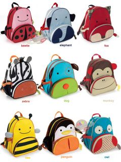 Baby Toddlers Kid Zoo Animal Backpack Bag School Bag Assorted for Child Gift