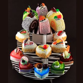 3D Refrigerator Fridge Magnet Fake Food Heart Shaped Cake 6 Variety Pack