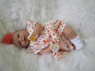 Reborn Artist Sunbeambabies Beautiful Brown Eyed Baby Girl Doll Realistic