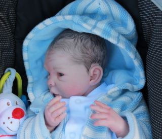 Beautiful Reborn Baby Boy Doll Steffi by Menna Hartog Sam's Reborn Nursery