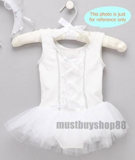 Lovely Baby Toddler Girl White Ballet Dress Costume One Piece 3 18 Months