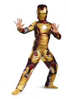 Boys Child Marvel Iron Man 3 Iron Man Mark 42 Light Up Arc Reactor Costume