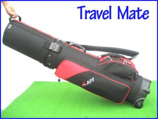 A99 Golf Travel Mate I Travel Cover Hard Case Shell Hybrid Black Red