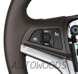 GM Chevrolet Cruze Leather Steering Wheel Cocoa w Dual Control Switches