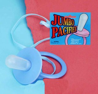 Jumbo Pink Blue Baby Pacifier Adult Baby Shower Jammies Costume Accessory 51387