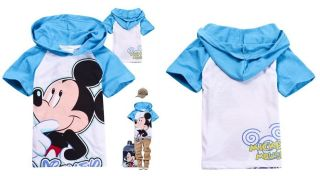 New Mickey Mouse Minnie Mouse Toddler Kids Boys Girls Hoodies T Shirts Aged 2 8Y