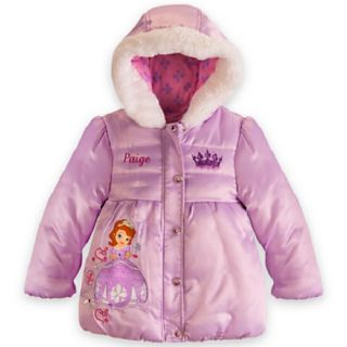 New  Princess Sofia The First Winter Puffer Coat Jacket Girls