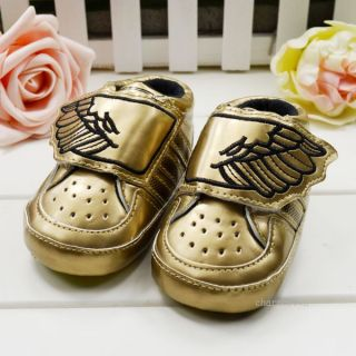 Baby Boys Infant Toddler Wing Sneaker Soft Sole Crib Shoes Size 3 18 Months Hot