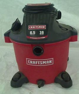 Craftsman 16 Gallon 6 5 Peak HP Wet Dry Vacuum Shop Vac TADD