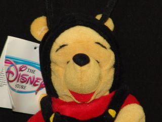 New Disney Mattel Winnie Pooh Bear Honey Bee Costume Stuffed Animal Toy Plush