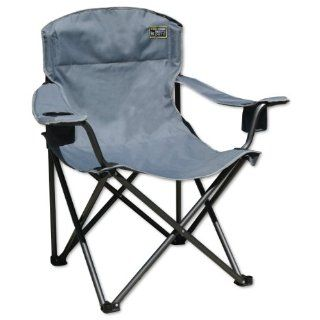 New Quik Chair Heavy Duty 1 4 Ton Capacity Folding Chair w Carrying Bag Grey
