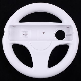 Steering Wheel for Wii Mario Kart Racing Game White