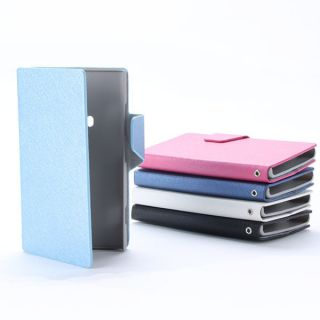 Black PU Leather Matte Flip Wallet Case Cover w Stand for Nokia Lumia 920 N920