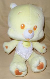 "Care Bear Cubs Yellow 10"" Plush Baby Toy Doll Funshine Cub 2004"