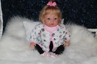 Sweet Pea Babie's Nursery Silicone Vinyl Reborn Doll Beautiful Baby Girl Yvonne