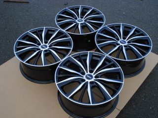18 Mercedes Benz MB Audi Volkswagen VW Chrysler Crossfire 5x112 Black Wheel Rims