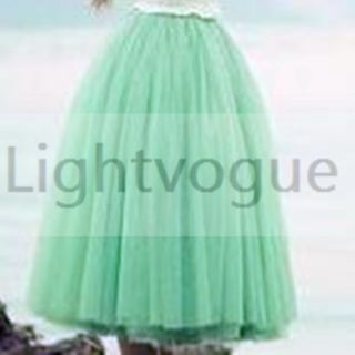 2013 Women Girl Princess Fairy Style 5 Layered Tulle Dress Bouffant Skirt 3010