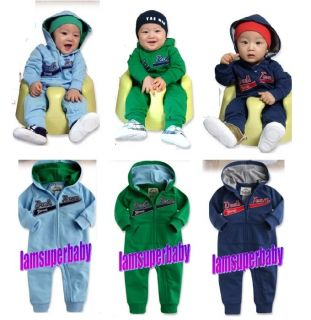★special Deal Baby Boy Sporty Hoodies Hip Hop Style Zip Up Tracksuit Romper 0 6M