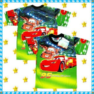 Disney Cars McQueen Party Top T Shirt Age 1 7 Years Baby Kids Boys Clothes