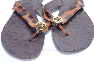 Tory Burch 8 Leopard Print Patent Leather Thora Flip Flop Thong Sandal Shoe $125