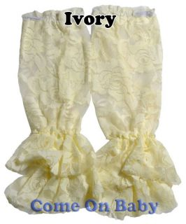 2 Pairs Toddlers Infant Baby Girl Vintage Rose Lace Leg Warmers Leggings