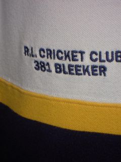 Polo Ralph Lauren R L Cricket Club 381 Bleeker 3 Big Crest Casual Sport Shirt L