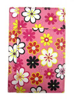 Pink Floral Flower Passport Cover Travel Document Holder Organizer