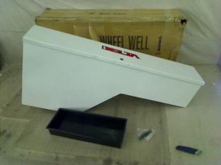 "Delta 850000 White 48"" Steel Truck Wheel Well Box"