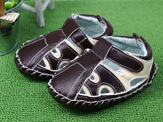 New Toddler Baby Boy Hard Sole White Brown Sandals Shoes UK Size 1 2 3