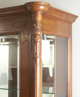 Anglo Indian Teak Glass Display Cabinet