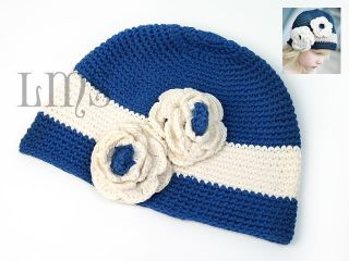 H18 New Kids Toddler Child Girl Crochet Beanie Hat