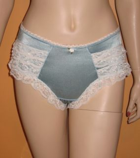 Baby Blue N White Ruffle Lace Panties Sissy Panty CD Bloomers Queen Plus Size 1x