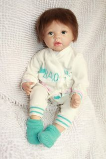 1pc Real Like Beautiful 52cm Boy Reborn Baby Doll High Quality for Kids' Gift
