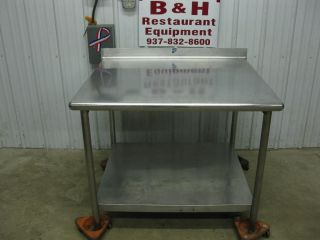 "42"" x 36"" Stainless Steel Heavy Duty Work Table"