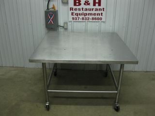 "45"" x 45"" x 30"" Stainless Steel Heavy Duty Work Prep Top Table Equipment Stand"