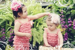 Baby Girls Petti Rompers Lace Photo Shoot Summer Dress Clothes Leggings Pants