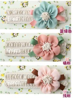 New Children Kids Newborn Baby Girls Flower Headband Headwear Hair Band Soft Hot