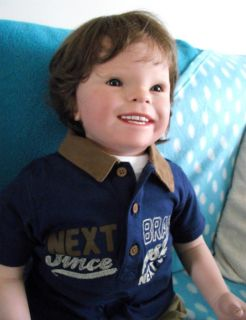 A Reborn Todder Baby Boy Doll from The 'Stinker' Kit by Donna RuBert