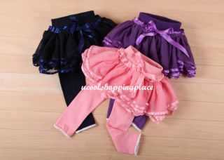 Kid Baby Girl Pantskirt Tutu Pants Leggings Tights Skirt Dress Clothes