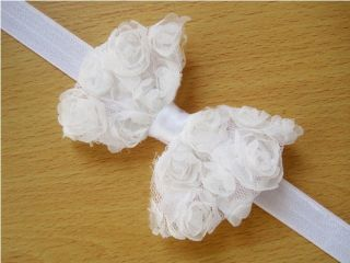 10pcs Kids Baby Girl Children Infants Lace Flower Bowknot Headband Hairband