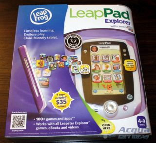 LeapFrog LeapPad Leap Frog Pad Explorer Learning Tablet 4 Apps Camera Pink