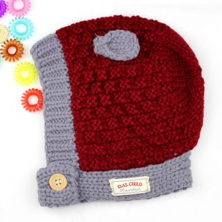 2013 New Baby Boys Girls Lovely Cat Ears Winter Cap Hat Earflaps Around Neck