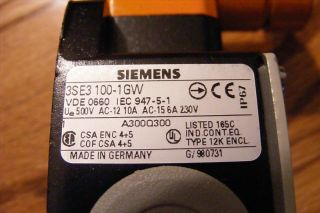 New Siemens Limit Switch Roller Crank 3SE3100 1GW 3SE31001GW