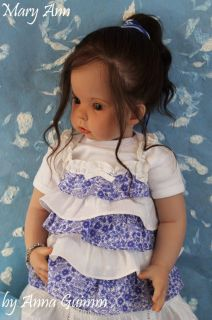 "So Real Reborn Toddler Girl Tibby by Donna RuBert Now Mary Ann 31"" Human Hair"