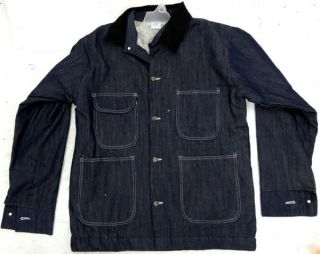 Safety Maxx Prison Inmate Apparel Men's Blue Jean Denim Jacket Coat Sz 46 48