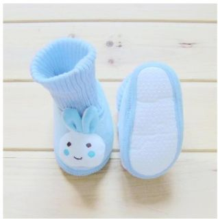1pair Infant Crib Baby Boy Girl Slippers Rabbit Cute Trainer Shoe Sock W571