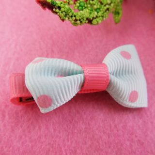 5X Baby Kids Girls Toddler Ribbon Hair Clips Pin Headband Crochet Bowtie Ribbon